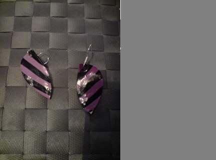 boucles d'oreille dégrader de violets