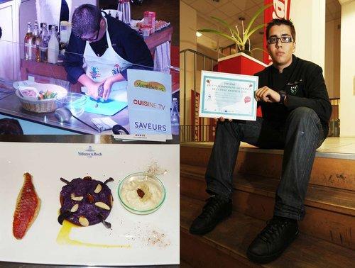 Toulon: Maxence 3e meilleur cuisinier amateur