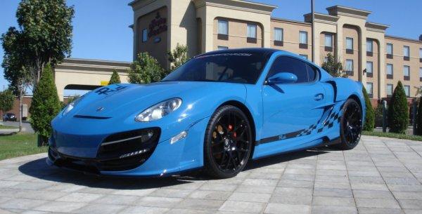 Porsche Cayman RUSH #005 Blue Edition