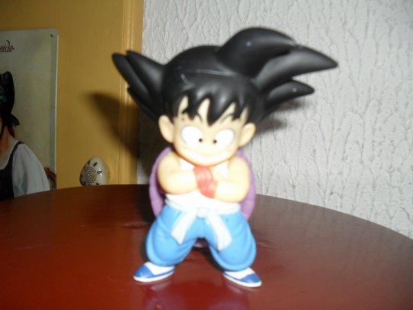San Goku enfant avec une carapace violette.