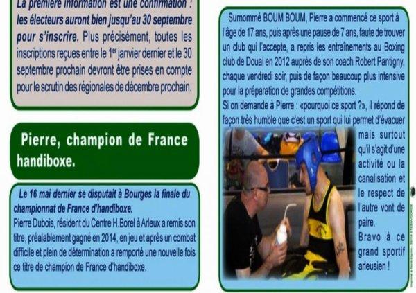"""Article du magazine de """"vous a nous"""" d'Arleux"""