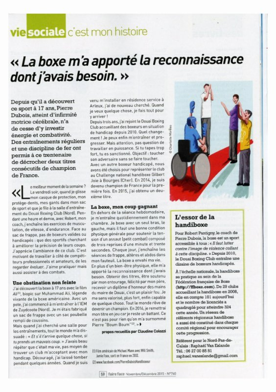 Article de faire face A.P.F