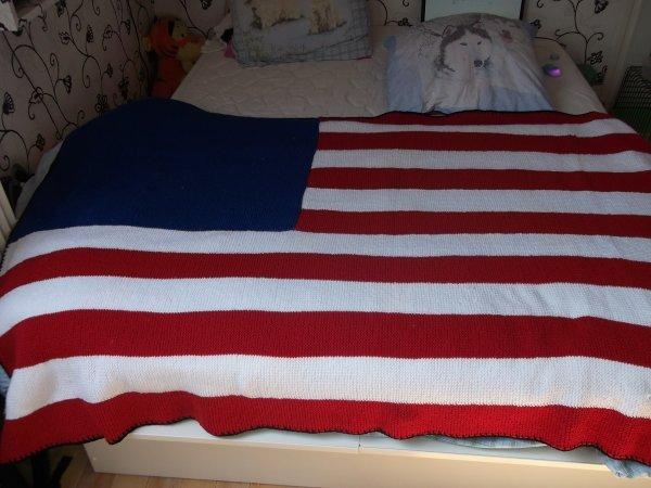 Couverture en laine, Drapeau américain