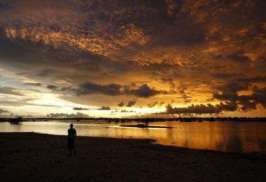 Par ces temps de pluie je vous offre un coucher de soleil
