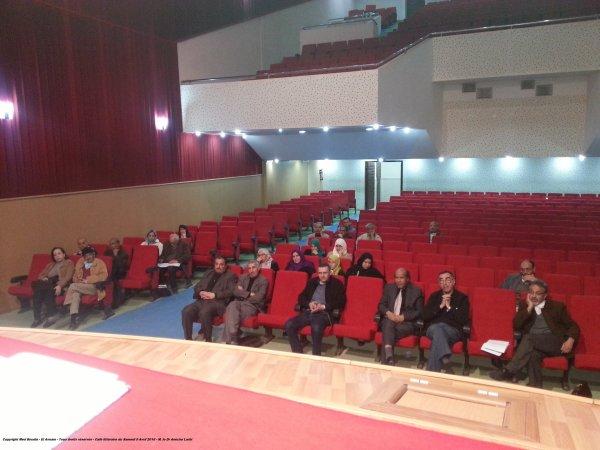 CAFE LITTERAIRE DU 9 aVRIL 2016 ANIME PAR LE Dr AMICHE LARBI