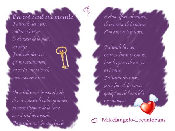 ~ Les poèmes de Mikelangelo