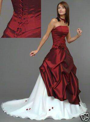 robe de mariee rouge et blanc blog de mariage3072011. Black Bedroom Furniture Sets. Home Design Ideas