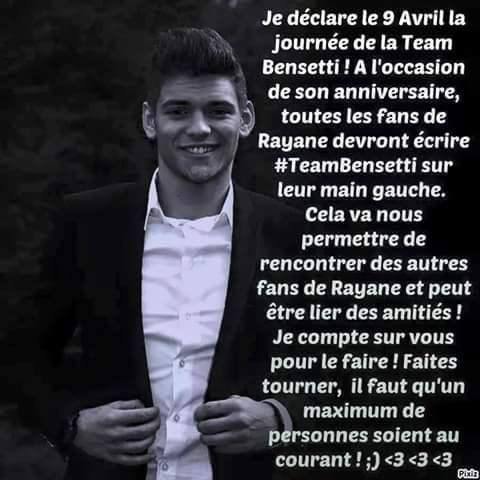 journer de la Team Bensetti 09/04/15 faite tourner <3