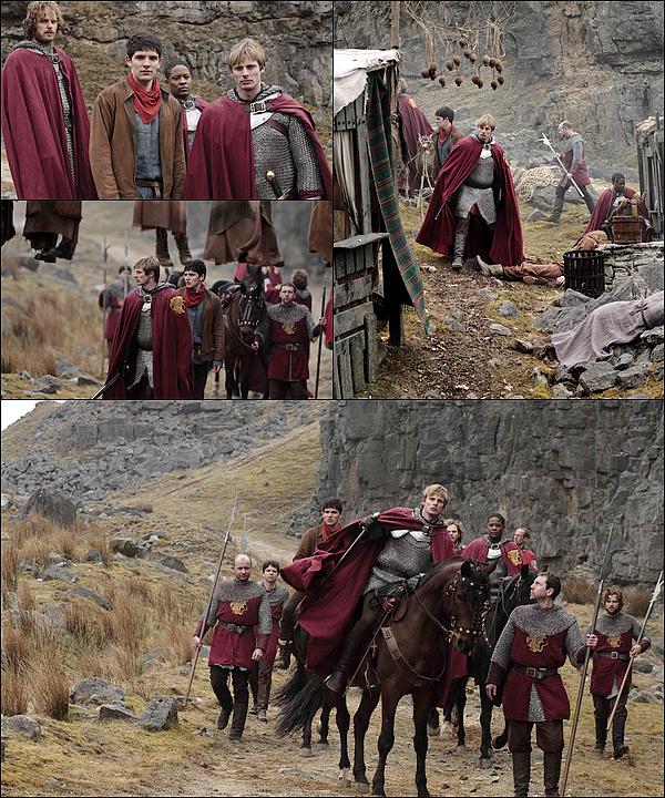 . Découvrez les stills promotionnels de l'épisode 5x01 de Merlin, intitulé « Arthur's Bane ». .