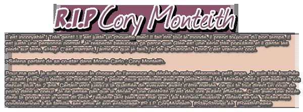 R.I.P Cory Monteith