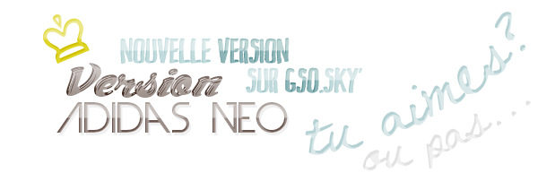 "Nouvelle version : ""Adidas NEO"""