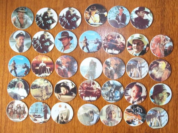 pogs INDIANA JONES ( 0.20 E le pog)