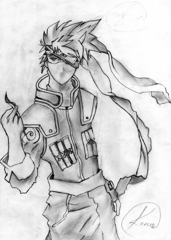 Mon dessin kakashi blog de tajours - Dessin kakashi ...