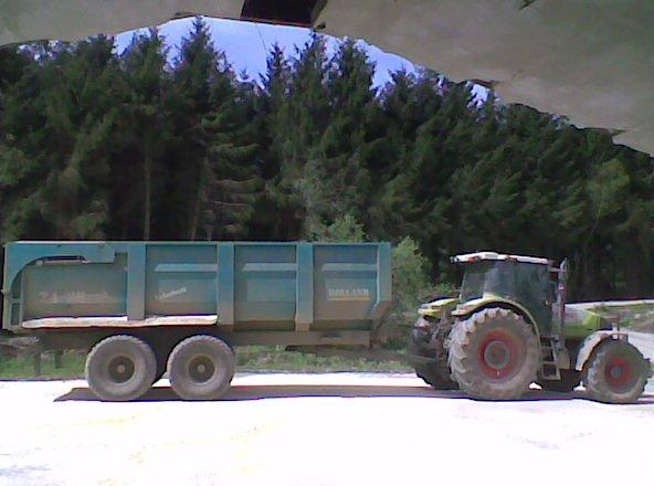 Transport farine maïs humide