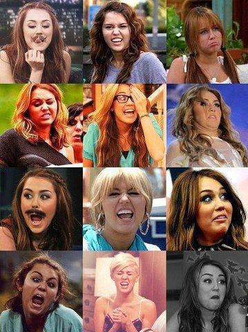 Les tronche de Miley LOL