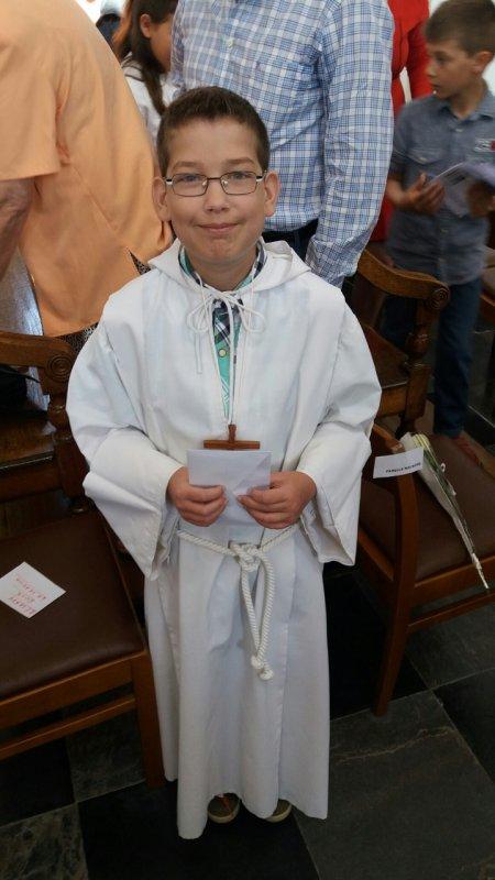 Le dimanche 8 mai- Communion d'Alexandre