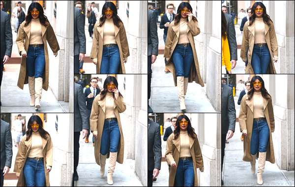 05/02/19 : Priyanka Chopra se rendait au « The Tonight Show Starring Jimmy Fallon », à New York (NY). Priyanka a changée de tenue ! J'aime bien, je lui accorde un top !