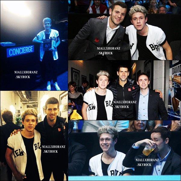 "11/11/13 : Niall au ""2013 ATP World Tour Finals"" à Londres"