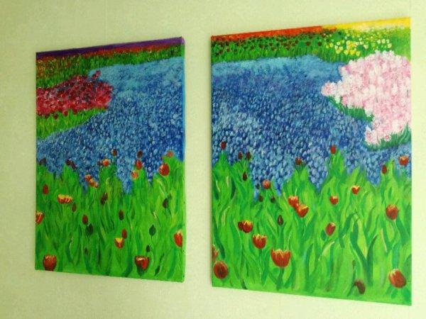 Voici mon champ de tulipes