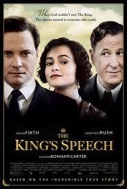 """Vendredi 15 avril, vu film """"Le discours d'un roi"""""""