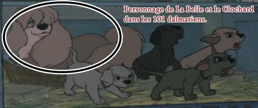 Clin d'oeil : Les 101 dalmatiens.