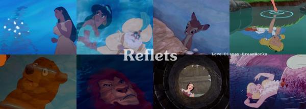 Zoom : reflets.