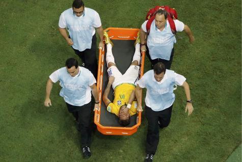 Neymar est blesser !!!