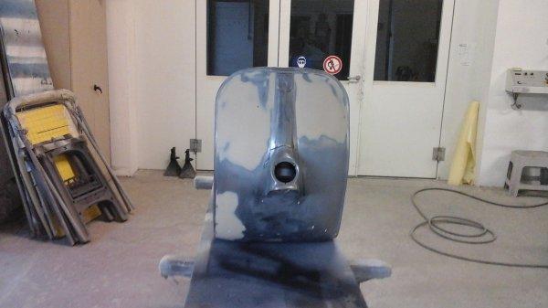 Plus que l antigravillon à mettre et on va la préparer pour peindre.