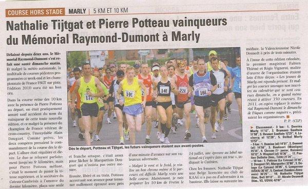 COURSE 05 - LE MEMORIAL RAYMOND - DUMONT - MARLY - 10 KILOMETRES