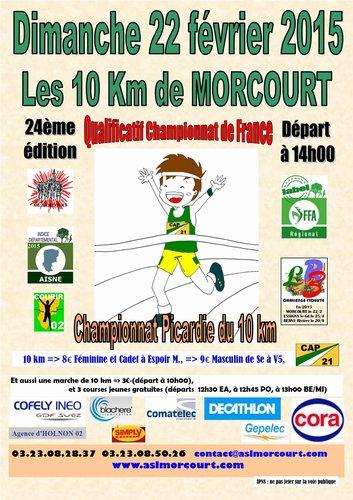 COURSE 04 - LES 10KM DE MORCOURT(02) - CHAMPIONNAT DE PICARDIE DU 10KM