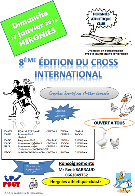 COURSE 02 - LE CROSS INTERNATIONAL D'HERGNIES - 5100 M