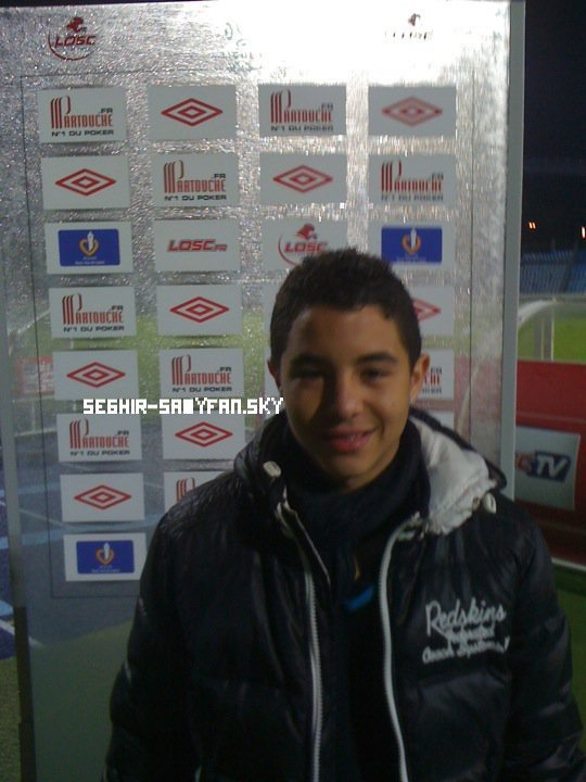 Samy qui était présent au match Lille-Marseille.