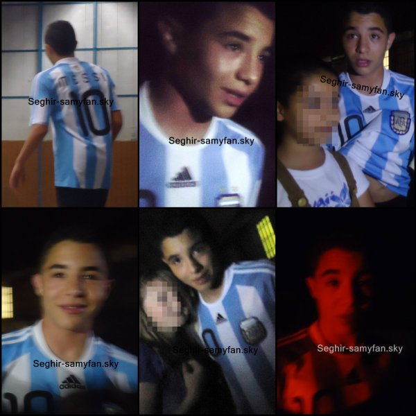 Samy Avec le tee-shirt de l'Argentine avec le nom Messi ;D