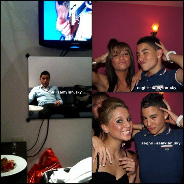 """Photos avec ses amis et une qui date quand il est allé au plateau tv """"vivement Dimanche"""" (dans sa loge)"""