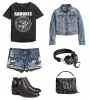 Look 13 : Rock'n roll (total H&M)