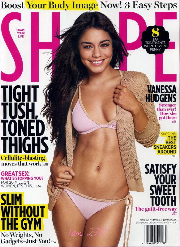 Nessa prend la pose pour Shape Magazine ...