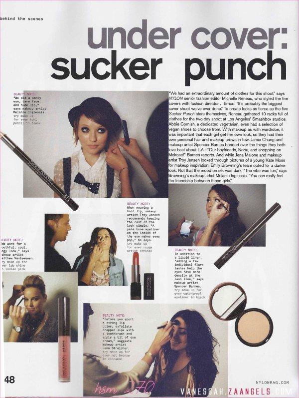 Sucker Punch débarque dans le Nylon Magazine de Avril 2011 ...
