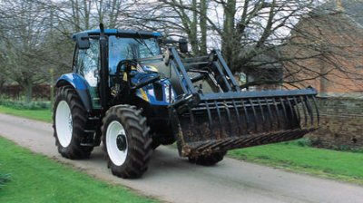 tracteur new holland a fourche