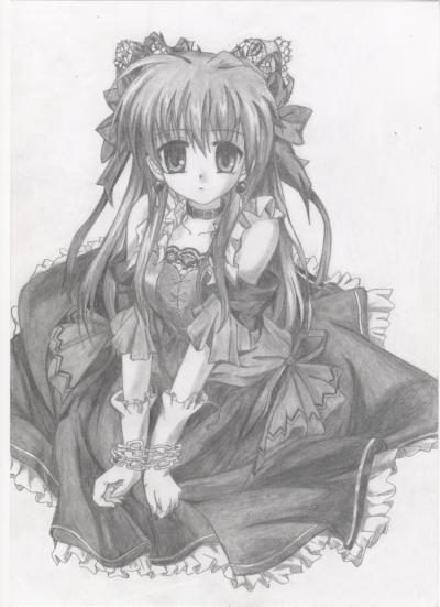 dessin manga gothique