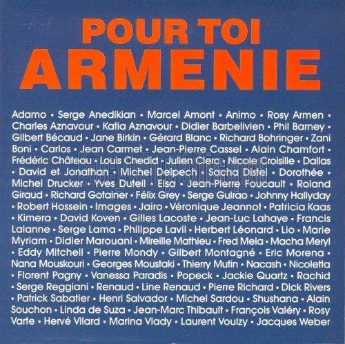POUR TOI ARMENIE VERONIQUE JANNOT ET D'AUTRES ARTISTES 1989