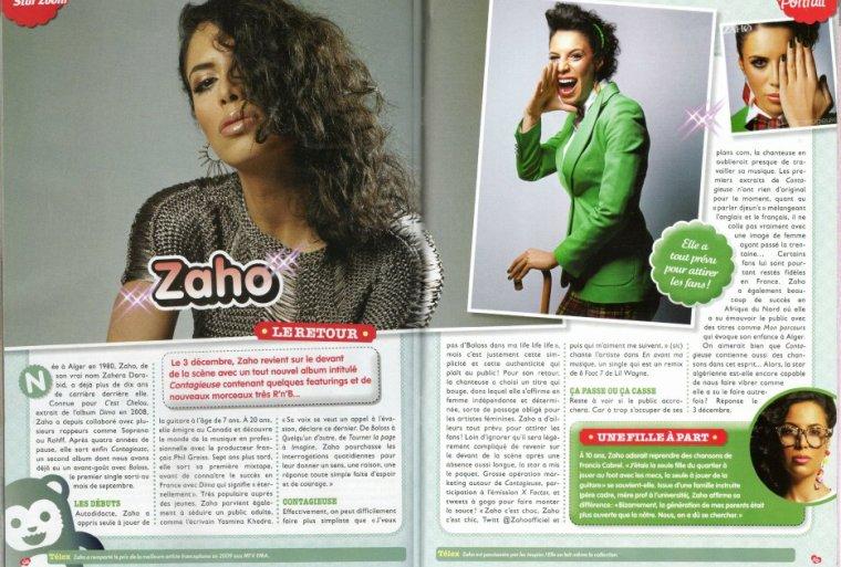 Zaho dans Star Zoom