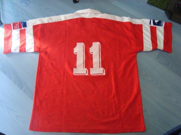 maillot porté par Jean-Pierre Orts saison 1992 1993 fc rouen 1899