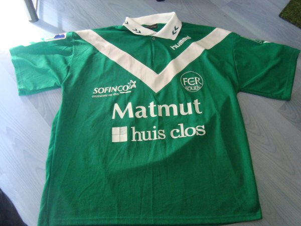 Maillot porté Fc Rouen 1899 en ligue 2 saison 2003 2004 par Hubert Fournier