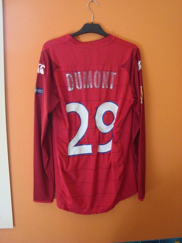 Maillot porté par Stéphane Dumont avec lille en europa league