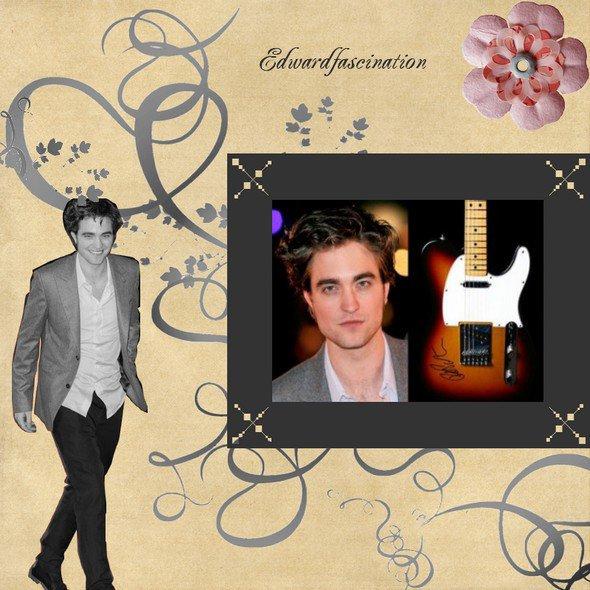 Une guitare signée Rob aux enchères...