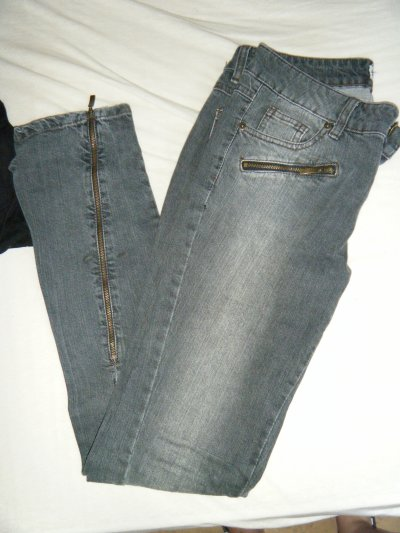Jeans slim gris taille 36