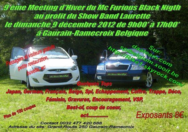 Le 9 décembre 2012 --  9ème Meeting d'Hiver du Mc Furious Black Nigth au profit du Show Band Laurette