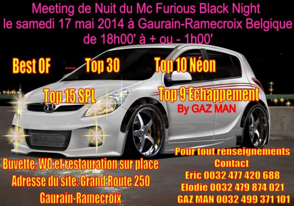 2ème Meeting de NUIT du Mc Furious Black Night le 17 mai 2014