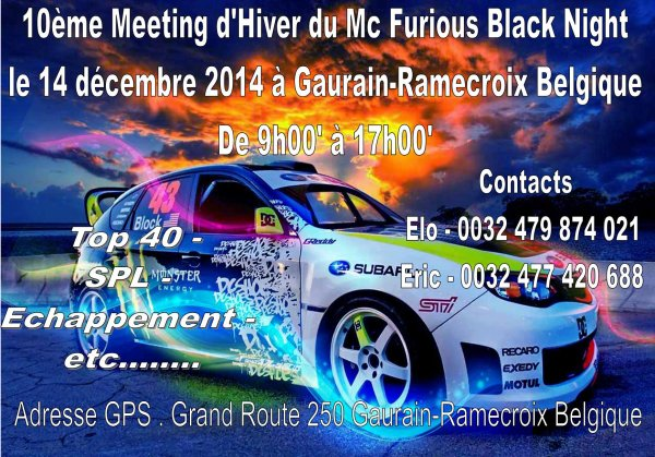 10ème Meeting d'Hiver du Mc Furious Black Night