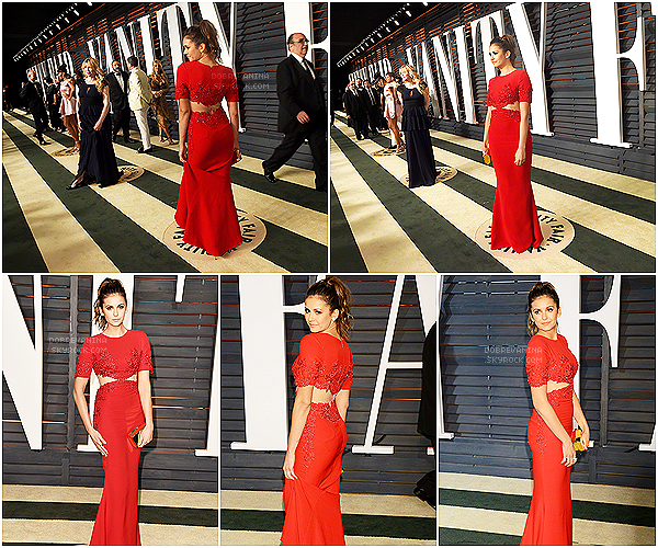 .   22/02/2015 : Notre belle Nina était 23rd Annual Elton John AIDS Foundation Academy Awards Viewing Party ! .